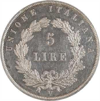 Italie, Venise (Gouvernement provisoire de), 5 lire, 1848 Venise
