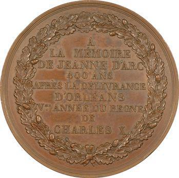 Charles X, 400ème anniversaire de la libération d'Orléans par Jeanne d'Arc, 1829 Paris