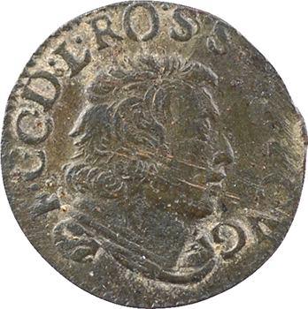 Cugnon (principauté de), Ferdinand-Charles, denier tournois 2e type, 1649 Cugnon