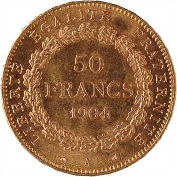 IIIe République, 50 francs Génie, 1904 Paris