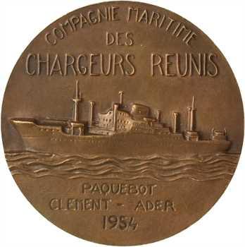 Compagnie des Chargeurs Réunis, paquebot Clément Ader, par Fraisse (Claude), 1954 Paris