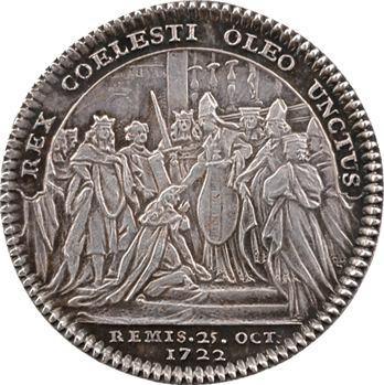 Champagne, Louis XV, jeton du sacre en argent, 25 octobre 1722