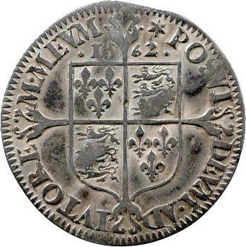 Angleterre, Elisabeth Ire, six pence au balancier, 1562 Londres