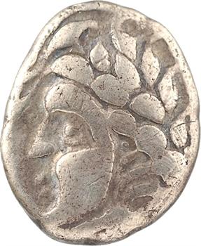 Carnutes, statère d'électrum à la branche fleurie, c.IIe-Ier s. av. J.-C