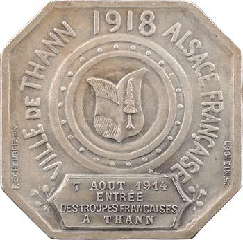III République, entrée des troupes françaises à Thann (Haut-Rhin), 1918