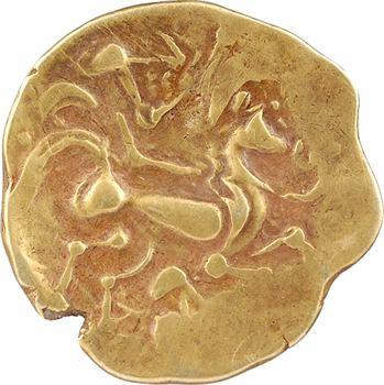 Namnètes, statère à l'hippophore, classe II au bâton, c.80-50 av. J.-C.