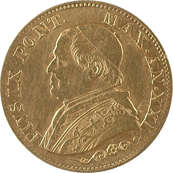 Vatican, Pie IX, 10 lire, 1866/XXI Rome