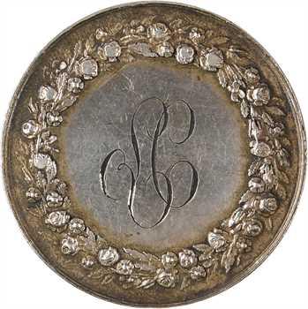 Second Empire, médaille de mariage par Pingret, 1857 Paris