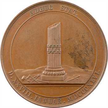 Allemagne, Halberstadt, centenaire de la loge des Trois marteaux, par Loos et Schilling, 1846