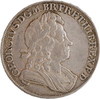 Grande-Bretagne, Georges II, crown (couronne) à la vieille tête, 1716 Londres