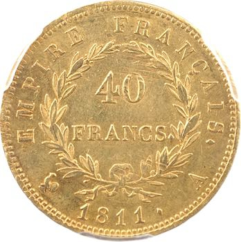 Premier Empire, 40 francs Empire, 1811 Paris, PCGS MS61
