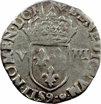 Henri III, huitième d'écu croix de face, 1584 Rennes