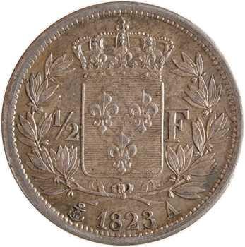 Louis XVIII, 1/2 franc, 1823 Paris