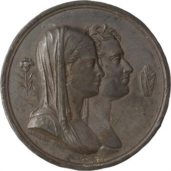 Louis XVIII, naissance du duc de Bordeaux, cliché uniface, 1820 Paris