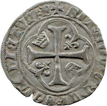 Charles VII, blanc à la couronne, 4e émission, Bourges