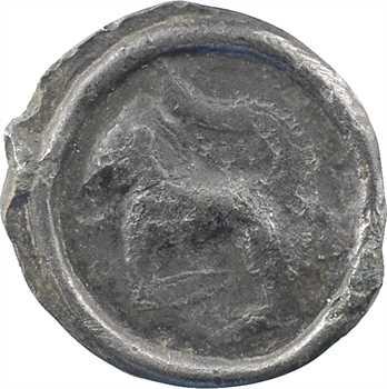 Incertaines de l'Est [Séquanes ?], potin au quadrupède, c.60-50 av. J.-C