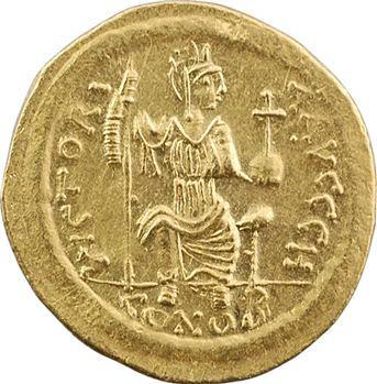 Justin II, solidus, Constantinople, 8e officine, 575-578
