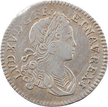 Louis XV, dixième d'écu de Navarre, 1718 Lyon