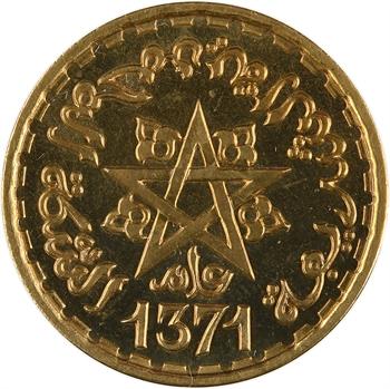 Maroc, Mohammed V, essai de 20 francs, AH 1371 (1952) Paris
