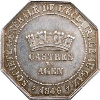 Louis-Philippe Ier, éclairage au gaz de Castres et Agen, 1846 Paris