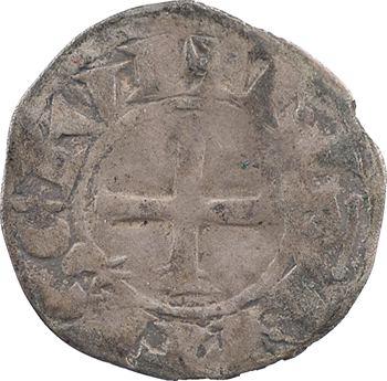 Bretagne (duché de), anonymes sous Constance, Arthur et Guy de Thouars, denier, s.d. Nantes