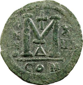 Justinien Ier, follis, Constantinople, 539-540