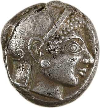 Attique, tétradrachme de style archaïque, Athènes, c.527-510 av. J.-C