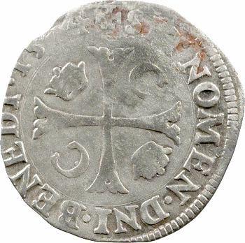 Charles IX, douzain aux 2 C couronnés, 1574 Poitiers