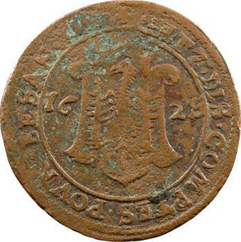 Besançon, jeton des services de comptes de la cité, 1628/7