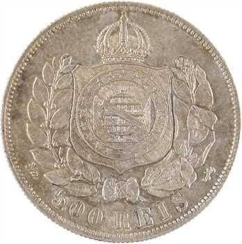 Brésil, Pierre II, 500 réis, 1868 Rio