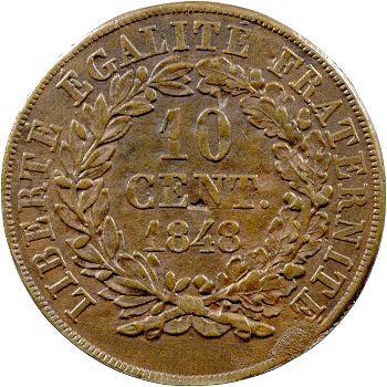 IIe République, essai de 10 centimes par Vauthier-Galle, 1848 Paris