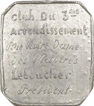 IIe République, Club du 3e arrondissement, 1848 Paris