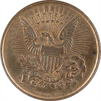 IIIe République/États-Unis, module de 10 centimes, visite du Comte de Paris aux USA, 1890