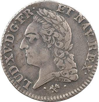 Louis XV, cinquième d'écu à la vieille tête, 1772 Bayonne