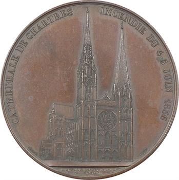 Louis-Philippe Ier, incendie de la cathédrale de Chartres (délibération du Conseil Municipal), 1837 Paris