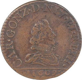 Charleville (principauté de), Charles Ier de Gonzague, liard 2e type, 1609 Charleville