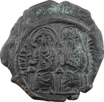Justin II et Sophie, follis, Constantinople, 4e officine, An III = 567-568