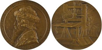 Deschamps (L.) : Johannes Gutenberg, paire d'épreuves, s.d. Paris