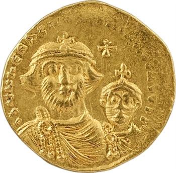 Héraclius et Héraclius Constantin, solidus, Constantinople, 6e officine, 610-641