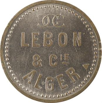 Algérie, Alger, Lebon et Compagnie, jeton publicitaire pour fourniture de gaz, électricité ou coke, s.d