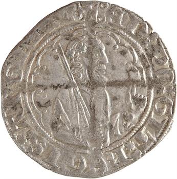 Aquitaine (duché d'), Édouard le Prince noir, demi-gros, 2e émission, s.d. (1362-1372) Limoges