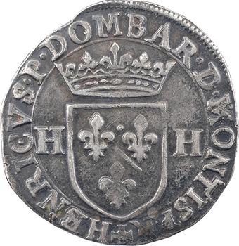 Dombes (principauté de), Henri II de Bourbon, quart d'écu, 1604 Trévoux