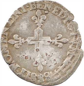 Henri III, sol parisis, 2e type, 1578 Troyes