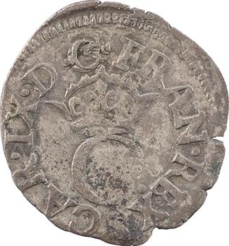 Charles IX, liard au C couronné, 2e émission, 1574 Troyes