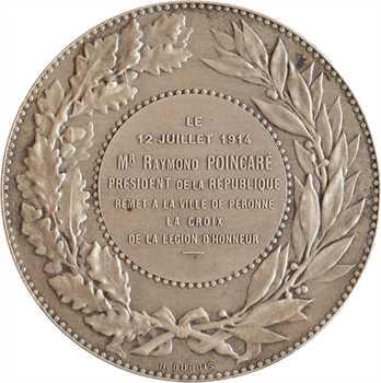IIIe République, Poincaré remet la Légion d'Honneur à la ville de Péronne, par Dubois, 1914 Paris
