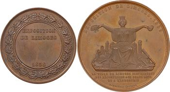 Second Empire, Exposition de Limoges, 1858 Paris, lot de 2