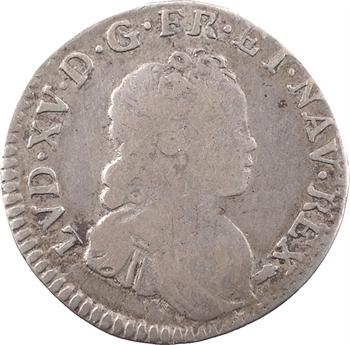 Louis XV, dixième d'écu dit Vertugadin, flan neuf, 1717 Besançon