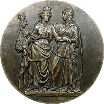 Pologne, la France pour la Pologne, médaillon uniface par Barre, 1831