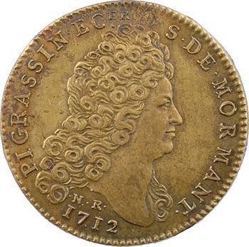 Bourgogne, Pierre Grassin et Charlotte Dupuy, par Roëttiers, 1712 Paris