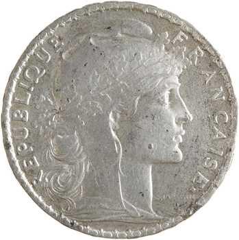 IIIe République, 20 francs Marianne en étain, 1907 Paris